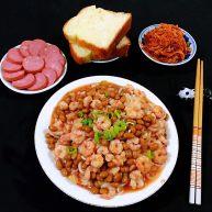 虾仁茄汁黄豆面
