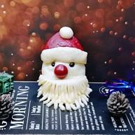 不一樣的面食~圣誕老人饅頭