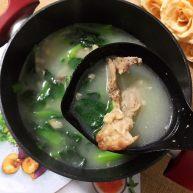 小青菜鸡架汤