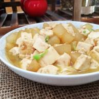 蚝油冬瓜炖豆腐