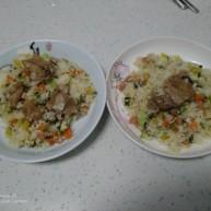 杂蔬排骨炒米