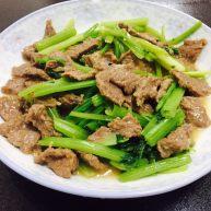 牛肉炒香芹