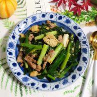青蒜油豆腐炒肉