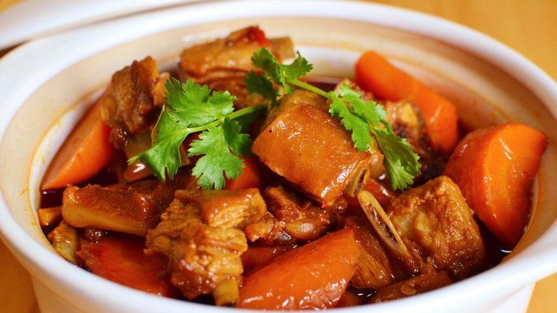 胡萝卜羊肉煲(羊排炖胡萝卜)