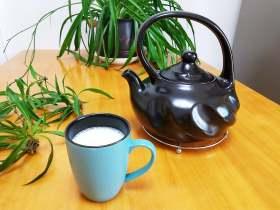 陶瓷烧水壶煮牛奶