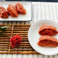 浪漫红粉蒸饺
