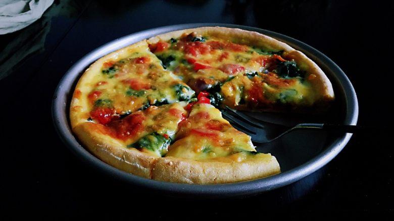 藜麦菠菜虾仁披萨,吃出藜麦的纯,吃出菠菜的个性