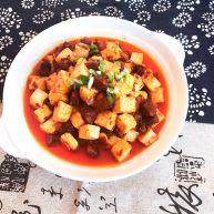 完美的下饭菜  腊肠烧豆腐