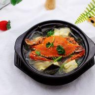 海带豆腐炖梭子蟹