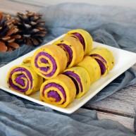 紫薯糯米鸡蛋卷