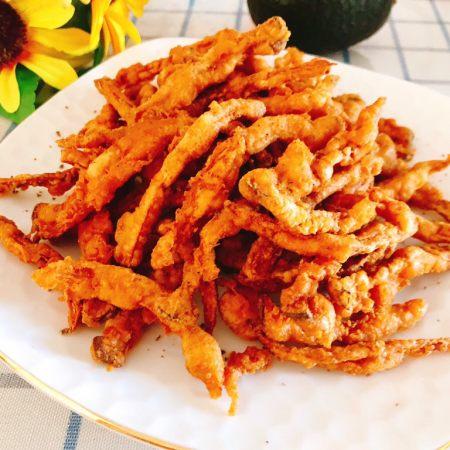 杏鲍菇吃出肉的味道-椒盐杏鲍菇