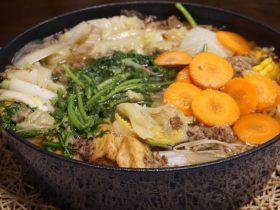 冬季里的治愈系牛肉寿喜锅