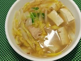 白菜(娃娃菜)豆腐汤