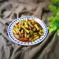 炸酱焖刀豆