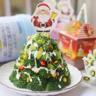 【圣诞美食】西兰花土豆泥圣诞树