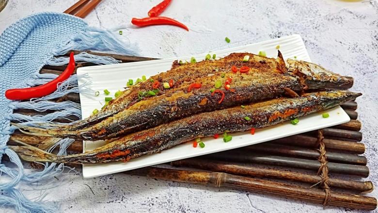 简单美味的麻辣烤秋刀鱼