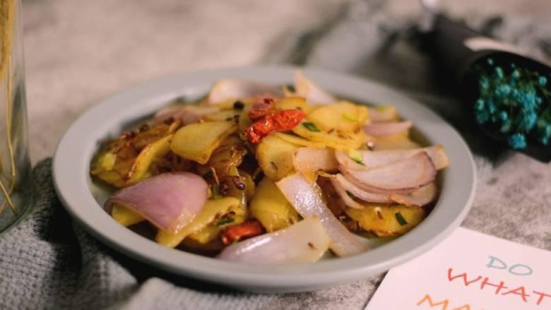 简单好学的孜然土豆片,土豆最好吃的做法,百吃不腻