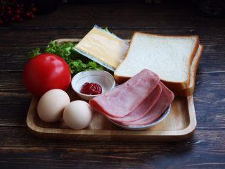 三明治,准备好食材。