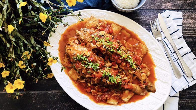 茄汁黄鱼焖豆腐