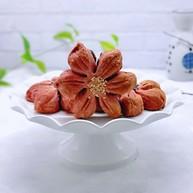 中式甜点~蜜豆桃花酥