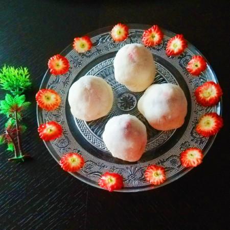 新文美食  玫瑰细沙草莓🍓大福