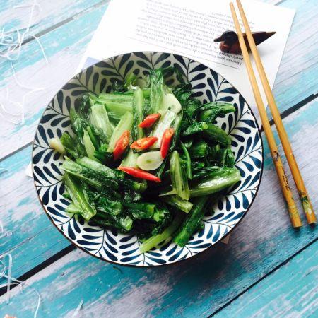 家常菜+清炒油麦菜