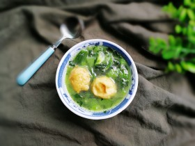 鸡丸青菜汤