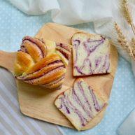 紫薯奶油辫子吐司(奶油直接法)