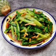 肉炒油麦菜