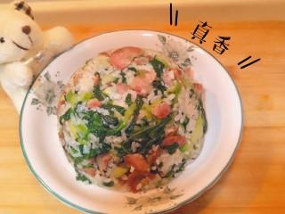猪油腊肠菜饭,完成了。