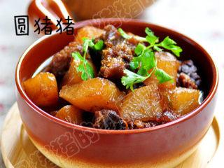 萝卜焖牛腩——冬季的萝卜赛人参,成品
