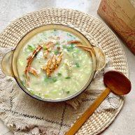 大龙虾青菜粥