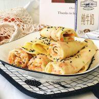 海陆双拼:虾皮胡萝卜鸡蛋饼