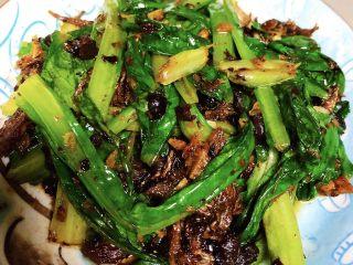 豆豉鲮鱼油麦菜,成品