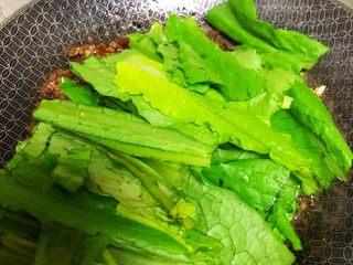 豆豉鲮鱼油麦菜,加入油麦菜