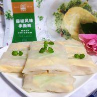 藤椒风味手撕鸡の饺子皮卷饼