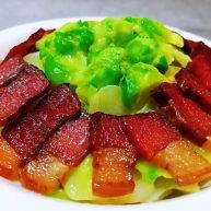 腊肉炒儿菜