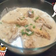 奶油鸡腿蘑菇汤🥘
