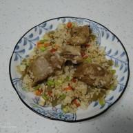 豆腐皮扎排骨炒米