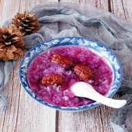 紫薯红枣银耳汤(电饭煲版)
