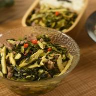 雪菜冬笋炒肉丝,无论配米饭还是面条都超好吃