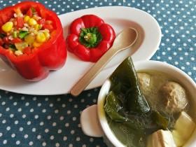 儿童餐-蔬菜叮炒饭&海带豆腐肉丸汤