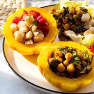 香煎巴沙鱼粒&菌菇鹰嘴豆太阳果碗两吃 【主食替换】【350大卡午餐】