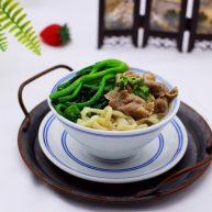 菠菜羊肉卷汤面