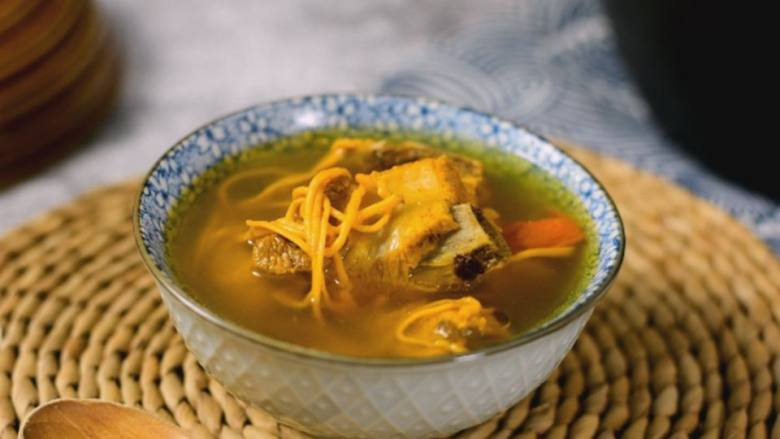 虫草花排骨汤,健康营养,又好吃