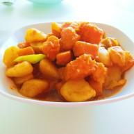 土豆熬金瓜  新文美食
