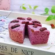 好吃不上火~红枣紫薯发糕