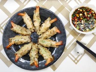 猪肉大虾煎饺