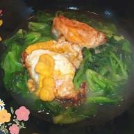 荷包蛋鸡毛菜汤🍃
