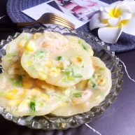 玉米虾仁水晶小软饼